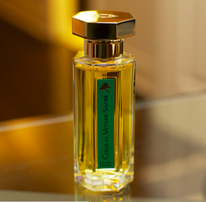 A fragrance advertises its vetiver content. Photo: Victor Wong