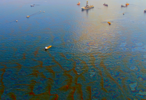 Could synthetic organisms escape and create a self-generating oil spill? We don't have enough information to predict the likely results of releasing SMOs. Photo: Green Fire Productions